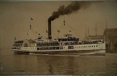 Puget Sound Excursion Steamer Yosemite, Frasch RPPC #160