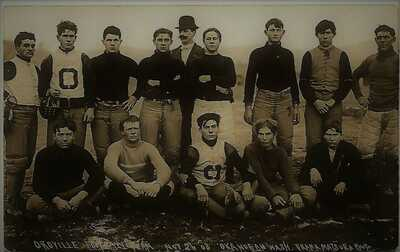Oroville Football Team, Nov. 26, 1908, Okanogan, Washington; Frank Matsura RPPC