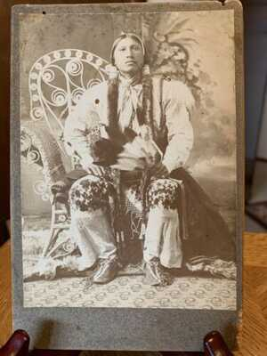ANTIQUE Native American Postcard / Real photos / Cabinet Cards / indian Emphera