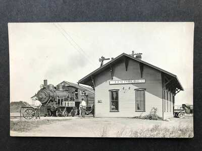 RPPC-Lewisburg OH-CN Railroad Station-Train-Depot-Ohio-Preble County-Real Photo