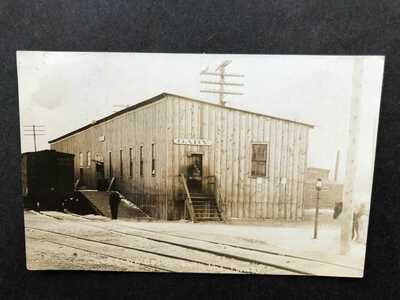 RPPC-Gary IN-Lake Shore Railroad Station-Train Depot-Indiana-Real Photo-Ind-RP