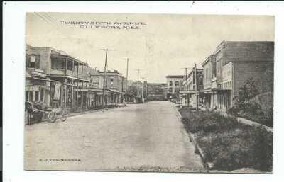 Postcard Post Card Gulfport Mississippi Miss Ms Twenty Sixth Avenue
