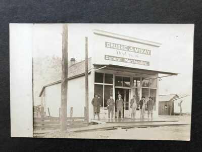 RPPC-Wilbur OR-Grubbe-McKay-General Store-Oregon-Douglas County-Real Photo-Ore