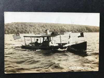 * RPPC-Lake Hopatcong NJ-Lottie-Charter Boat-New Jersey-Real Photo-WJ Harris RP