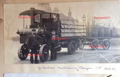 YORKSHIRE STEAM LORRY GRIMSBY LOUTH SKEGNESS TRUCK COMMERCIAL VEHICLE HAULAGE