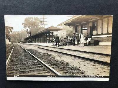 RPPC-Mt Kisco NY-Railroad Station-Train Depot-Westchester County-New York-RR-RP