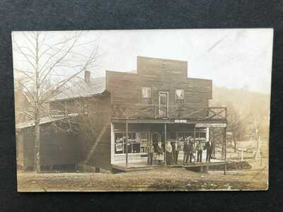 RPPC-Tiff MO-Rural Post Office-General Store-Railroad-Missouri-Washington County