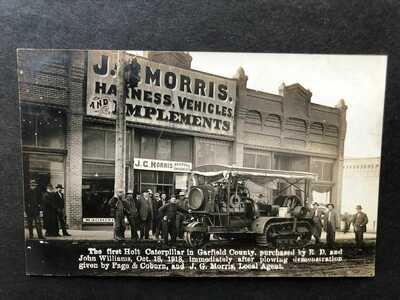 RPPC-Pomeroy WA-Morris Store-Holt Caterpillar Traction Engine-Tractor-Washington