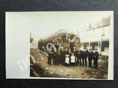RPPC-Hillsboro OR-First Trolley-Streetcar-Street Railway-Oregon-Real Photo-Ore