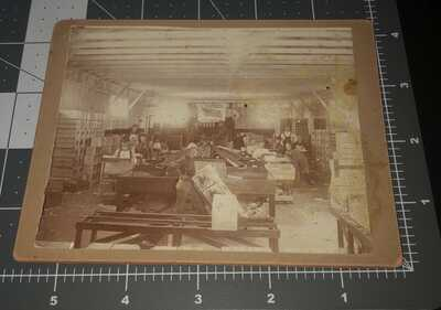 1900s TUSTIN California CA Interior Salisbury Fruit Co Worker SIGN Vintage PHOTO