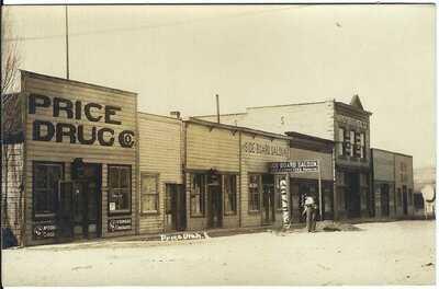 PRICE UTAH ~ Real Photo Postcard~ Side Board Saloon~ Price Drug ~ CARBON COUNTY