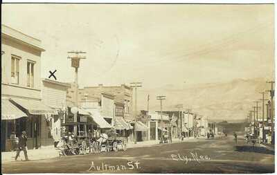 Aultman St., ELY, NEV.~ RPPC~ Robbery of Southern Club Gambling Hall Message!!!