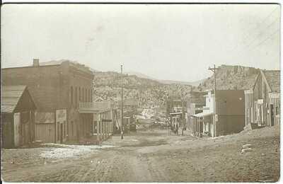 Main Street, AURORA, NEV. ~ RPPC ~ Ghost Town ~ MINERAL COUNTY, NEVADA ~ Mining