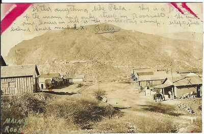 Main St., ROOSEVELT, AZ~ Street Scene~ Real Photo Postcard~ GILA COUNTY, ARIZONA