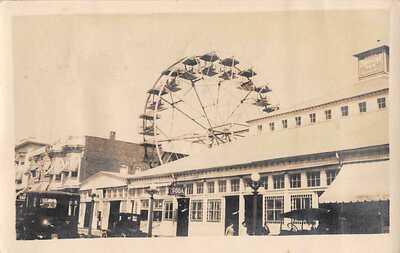ASBURY PARK, NJ, FERRIS WHEEL AT PALACE AMUSEMENT PARK REAL PHOTO PC used 1928