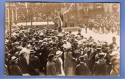 OLD VINTAGE 1914 RP POSTCARD ILKESTON ROYAL VISIT DERBYSHIRE