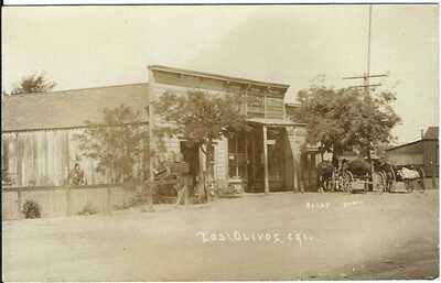 LOS OLIVOS, CAL. ~ Street Scene ~ RPPC ~ D.D. Davis Store ~ SANTA BARBARA COUNTY