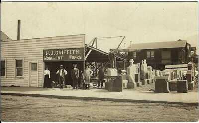 H.J. Griffith Monument Works ~ RPPC ~ SAN LUIS OBISPO, CA Cancel ~ c.1911