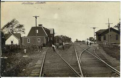 Miller's Station, JEDDO, NY ~ RPPC ~ Railroad Tracks ~ ORLEANS COUNTY, NEW YORK