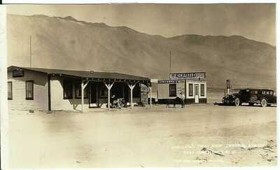 Theland's Pack and Service Station, COSO JUNCTION, CALIF. ~ RPPC ~ Inyo County