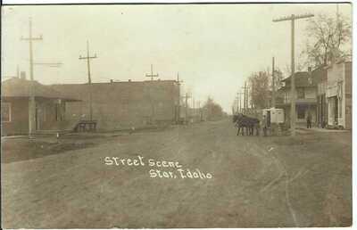 Street Scene, STAR, IDAHO ~ RPPC ~ c.1909 ~ Ada County, Idaho
