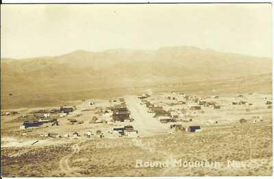 ROUND MOUNTAIN, NEV. ~ Birdseye View ~ RPPC ~ Nye County, Nevada