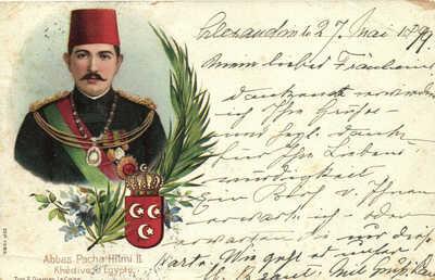 PC EGYPT, ABBAS PACHA HILMI II, Vintage LITHO Postcard (b29712)