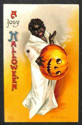 Ellen Clapsaddle A Jolly Halloween Mechanical Postcard
