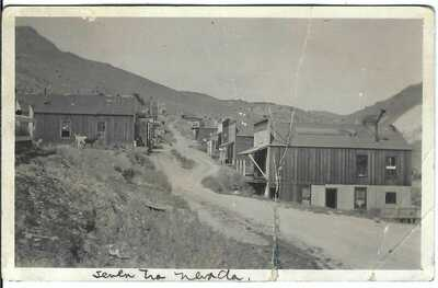 SEVEN TROUGHS, NEV. ~ Street Scene ~ RPPC ~ Ghost Town ~ Pershing County, Nevada