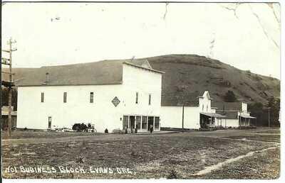 Business Block, EVANS, ORE. ~ Wallowa County, Oregon ~ RPPC ~ RARE TOWN!!!