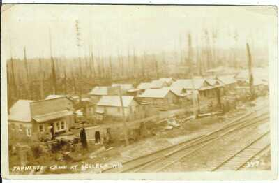 Japanese Camp at SELLECK, WN. ~ Former Company Town in Washington ~ RPPC