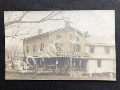 RPPC-Pipersville PA-Bigley General Store-Linford Craven-Doylestown-Bucks County