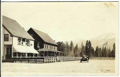 MEYERS, CAL. ~ Town View ~ RPPC ~ El Dorado County, California