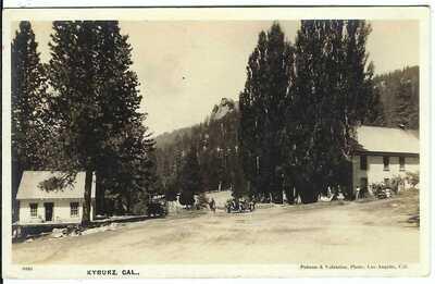 KYBURZ, CAL. ~ c.1930 ~ RPPC ~ Street Scene ~ El Dorado County, California