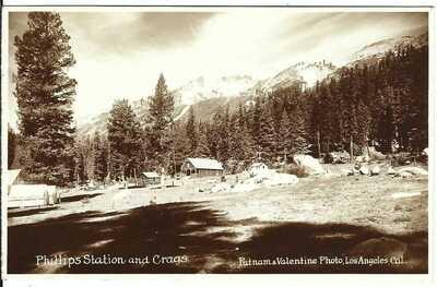 PHILLIPS STATION and Crags, CAL. ~ El Dorado County, California ~ RPPC ~ Tahoe