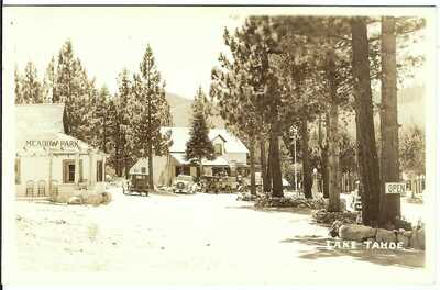 Lake Tahoe Near MEEK'S BAY, CAL. c.1930's ~ RPPC ~ El Dorado County, California