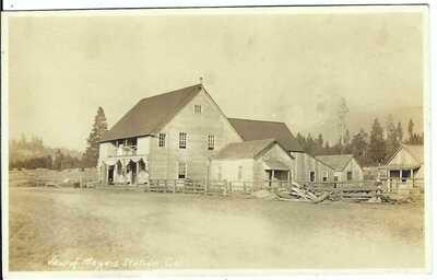View of MEYERS STATION, CAL. ~ El Dorado County, California ~ RPPC ~ Lake Tahoe