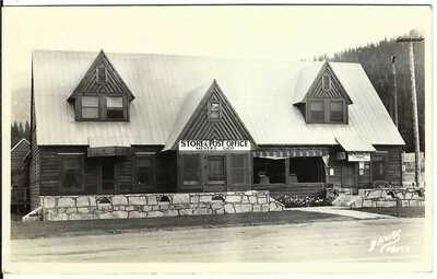 Store & Post Office, MEYERS, CALIF. ~ El Dorado County ~ RPPC ~ Lake Tahoe
