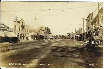 Light House Ave., PACIFIC GROVE, CAL. ~ Monterey County, California ~ RPPC