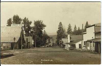 CURLEW, WASH. ~ Street Scene ~ RPPC ~ Ferry County, Washington