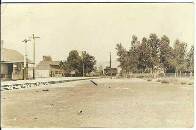 WABUSUKA, NEV. ~ c.1910 ~ Rail Road Depot Scene ~ Lyon County, Nevada ~ RPPC