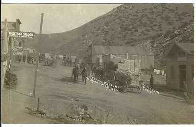 Hauling Freight to ROCHESTER, NEV. ~ Saloons & Bars ~ GHOST TOWN ~ RPPC