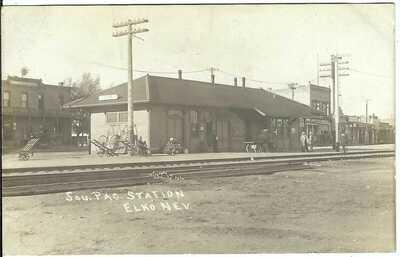Sou. Pac. Station, ELKO, NEV. ~ Elko County, Nevada ~ RPPC