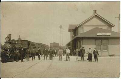 Rail Road Depot, FALLON, NEV. ~ c.1909 ~ RPPC ~ Churchill County, Nevada