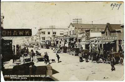 Main Street, GOLDFIELD, NEV., Mar. 1st '09 ~ Esmeralda County, Nevada ~ RPPC