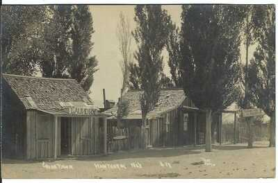 China Town, HAWTHORNE, NEV. ~ c.1909 ~ RPPC ~ Mineral County, Nevada