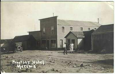 Preston's Hotel, MAZUMA, NEV. ~ Near Seven Troughs, Nevada ~ GHOST TOWN ~ RPPC