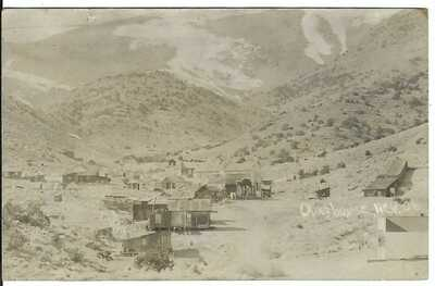 OLINGHOUSE, NEV. ~ Birdseye View ~ GHOST TOWN ~ Lyon County, Nevada ~ RPPC