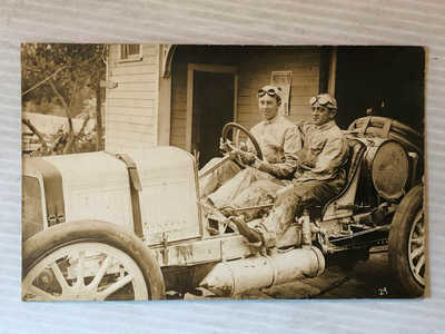 1911 Elgin Auto Race Race RPPC