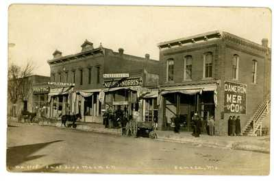 Seneca Missouri MO -MAIN STREET- RPPC Postcard Newton County nr Joplin/Neosho